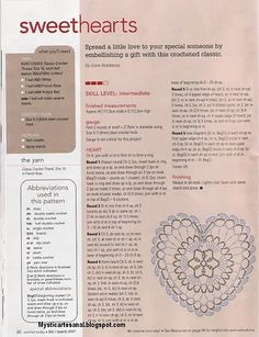 Crochet Heart - Chart (Try to read this or improvise, because the pattern is not at this link, so I will remove it!  =[ )