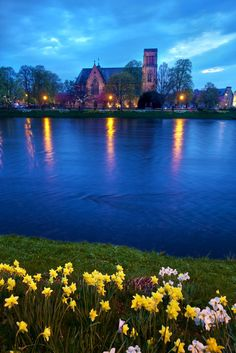 Inverness Cathedral - River Ness, Scotland Highland....So beautiful both the Cathedral and the Scottish Highlands..Nessie was sleeping though!