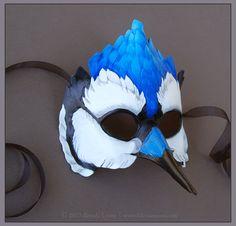 Blue Jay - Leather Mask by windfalcon on deviantART
