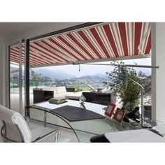 Advaning Luxury 12 Ft Manual Retractable Patio Awning In Brick Red   Walmart .com