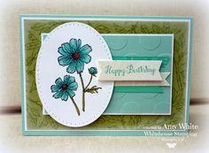 hous stamp, white houses, birthday card