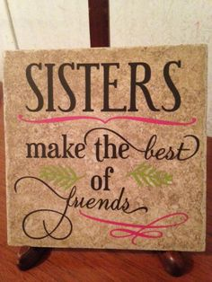 Ceramic Tile Great gift for any by LadybugCreationsforu on Etsy Tile Projects, Vinyl Projects, Diy Projects To Try, Crafts To Make, Ceramic Tile Crafts, Vinyl Quotes, Tile Coasters, Silhouette Cameo Projects, Glass Blocks