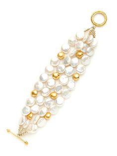 KEP Gold & Freshwater Pearl Bracelet
