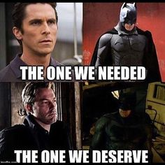 After seeing Batman V Superman, I agree. Pretty much everything I thought Christian Bale's Batman was missing Batfleck had. #DC #WB #Batman #BatmanVSuperman #TheDarkKnight #ComicBookFans