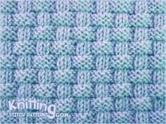 """Alternating knit and purl stitches created this richly textured pattern. Pie crust basketweave stitch is an eight row repeat and is knitted in multiple of . Knit Purl Stitches, Dishcloth Knitting Patterns, Knitting Stiches, Knit Dishcloth, Knitting Charts, Loom Knitting, Crochet Patterns, Knit Basket, Basket Weaving"