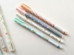Embroidered Cap Floral Fine Tip Pens - 0.5mm