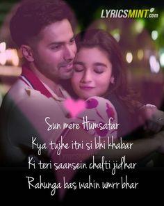 Humsafar Lyrics from Badrinath Ki Dulhania