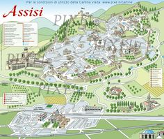 ASSISI - Italy (sightseeing map)