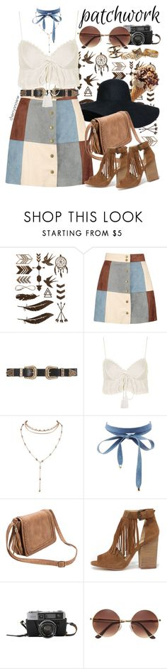 """""""Boho chic patchwork"""" by cherrysnoww ❤ liked on Polyvore featuring Boohoo, B-Low the Belt, Topshop, Charlotte Russe, Chinese Laundry and Wet Seal"""