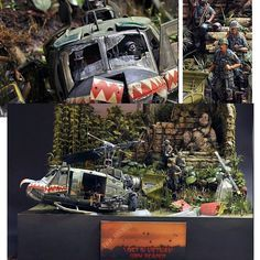 """""""Lost in vietnam"""" 1/35 scale. By Italo Feregotto, Roberto """"Target"""" Colaianni. Bell UH-1C Iroquois """"Huey"""" from MRC ACADEMY. Vietnam War #diorama #dio #dioramas #scale_model #helicopter #chopper #figure_model #soldier #soldiers #udk #usinadoskits #vietnam #war #guerra #plastimodelismo #plastickit #miniatura #miniature #miniatur #hobby"""