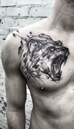 Inez Janiak bear tattoo