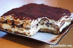 Cake Recipes, Dessert Recipes, Norwegian Food, Pudding Desserts, Food Cakes, Frozen Desserts, Something Sweet, Let Them Eat Cake, Muffins