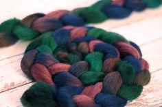 BFL Wool Roving, La Calavera Catrina