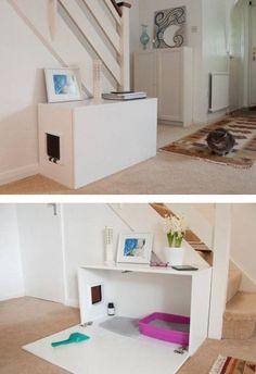 - Home sweet home for cats - Katzen / Cat Cat House Diy, Diy Cat Tree, Cat Hacks, Animal Room, Cat Room, Pet Furniture, Furniture Design, Cat Wall, Cat Supplies
