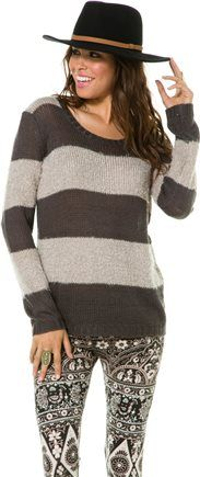 BILLABONG FUZZY RIDE RUGBY STRIPE SWEATER | Swell.com