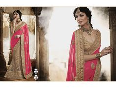 Buy Pink Faux Georgette Wedding Lehenga Saree 47367 with blouse online at lowest price from vast collection of sarees at m.indianclothstore.c.