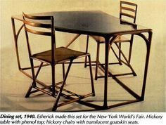 """Wharton Esherick (1887-1970)    """"Many craft experts consider Wharton Esherick the most important American woodworker of the 20th century--yet many woodworkers have never heard of him. ... PA.  His furniture designs influenced such well-known contemporary woodworkers as Wendell Castle and Sam Maloof.""""    -- Susannah Hogendorn (American Woodworker, August 1996)."""