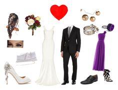 """Wedding in spring"" by ekiem on Polyvore featuring mode, Roland Mouret, Ralph Lauren Black Label, Badgley Mischka, Ben Sherman, OKA, L. Erickson en Nine West"