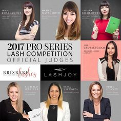 Here are your official judges for the 2017 Pro Series LIVE Lash Competition!!  It's amazing to think that this will be Australia's First Ever LIVE Lash Competition!!  It's been a lonnnnng time coming but with just 30 days to go we couldn't be more excited!!   It's such a positive sign that the Australian lash Industry is now progressing faster than ever before and events like these will begin to happen with much more regularity which is a win for everyone!   I'm really looking to this…