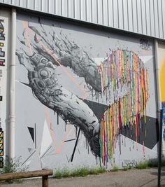 Brusk & Ema  Le mur7 - LYON