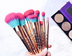 New - GWA Rainbow Collection makeup brushes. Pic by fashion & beauty blogger @sunshinesprkle
