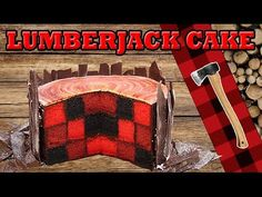 In this video, i show you how to make a checkerboard lumberjack cake that looks like a log of wood. You will need: - 3 cakes of different colours - chocolat . Lumberjack Cake, Lumberjack Birthday Party, Checkerboard Cake, Inside Cake, Recipe For Teens, Log Cake, Cake Youtube, Salty Cake, Cake Decorating Tutorials