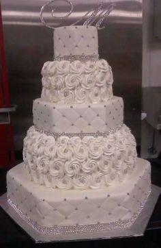 wedding cakes cakes elegant cakes rustic cakes simple cakes unique cakes with flowers cakes elegant bling Extravagant Wedding Cakes, Bling Wedding Cakes, Amazing Wedding Cakes, Wedding Cakes With Cupcakes, White Wedding Cakes, Elegant Wedding Cakes, Wedding Cake Designs, Rustic Wedding, Fall Wedding