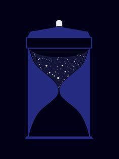 Through time and space animated by Citron--Vert Doctor Who minimalist poster (click for gif)