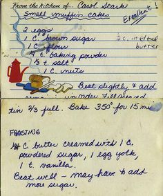 Small Muffin Cakes Recipe, by Carol Stark Retro Recipes, Old Recipes, Vintage Recipes, Cookbook Recipes, Baking Recipes, Cake Recipes, Muffin Cake Recipe, Muffin Tin Recipes, Cupcakes