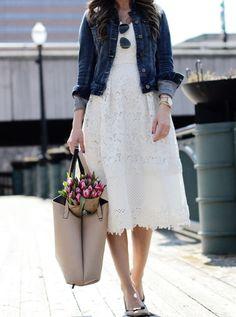 Spring Dresses Source by mixandmatchmel Modest Dresses, Modest Outfits, Modest Fashion, Dress Outfits, Casual Dresses, Casual Outfits, Fashion Dresses, Apostolic Fashion, Modest Clothing