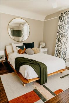 Modern Floating Bed Frame 47 chic and trendy mid century modern bedroom designs digsdigs mid century bed mid century bed frame with storage Modern Bedroom Furniture, Modern Bedroom Design, Home Decor Bedroom, Bedroom Ideas, Modern Bedrooms, Contemporary Bedroom, Teen Bedroom, Casual Bedroom, Feminine Bedroom