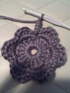 3D crochet flower   protsenka