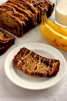 Peanut Butter Cup Banana Bread | www.pumpkinnspice.com