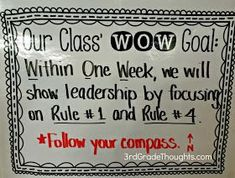 Interesting ideas here...3rd Grade Thoughts: Creating Class WOW Goals