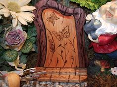 Adorable Gnome and Fairy doors for the garden. #Etsy