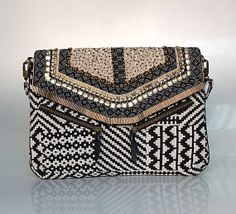 Hand Emroidered Jacquard Clutch by ShaunDesign on Etsy, $35.15