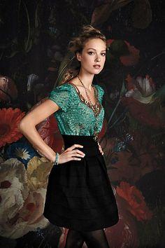 Carcanet Blouse & Ponte Belle Skirt- Anthropologie.com #anthrofav