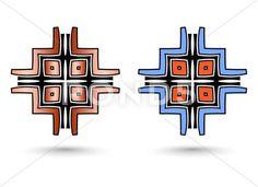 Two abstract inca cross: Royalty Free Illustration Free Illustrations, Art Google, Fiber Art, Tatoos, Vector Free, Royalty, Abstract, Artist, Pattern