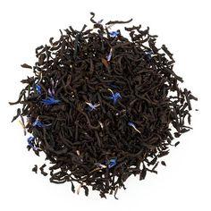 Creamy Earl Grey Tea from Prince Edward Island Preserve CO Ingredients: Black tea, flavouring, cornflower petals Earl Grey Tea, Prince Edward Island, Preserves, How To Dry Basil, Tea Time, Herbs, Black, Preserve, Black People