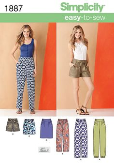 Simplicity 1887 is an easy-to-sew pattern that's great for summer