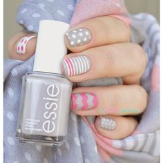 Beautiful Nail Art Ideas and Inspiration ❤ liked on Polyvore featuring beauty products and nail care