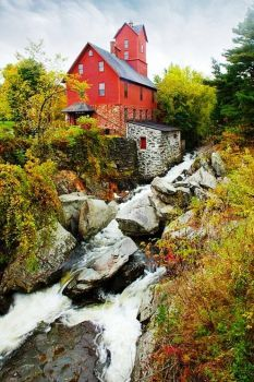 Old Red Mill, Jericho, Vermont (96 pieces)