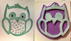 I can never get enough of owl. Cost zero since I use leftover foam given to me by a girlfriend. And it's so much easier to cut than rubber since it's just soft foam.