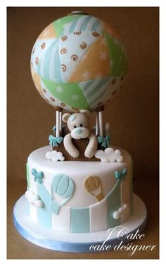 Baby shower cake...the world seen from the sky - Cake by JCake
