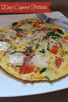 Whether you're looking for a breakfast or brunch idea, a Caprese Frittata or open faced omelet is a great option.