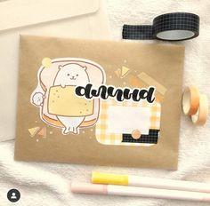Mail Art Envelopes, Cute Envelopes, Pen Pal Letters, Cute Letters, Bullet Journal Lettering Ideas, Bullet Journal Ideas Pages, Aesthetic Letters, Snail Mail Pen Pals, Diy Envelope
