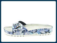 Rohde 5800 Riesa Damen Sandalen Clogs Pantoletten Weite G , Schuhgröße:39;Farbe:Blau - Clogs für frauen (*Partner-Link)