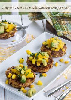 #HEALTHYRECIPE - Chipotle Crab Cakes with Avocado-Mango Salsa