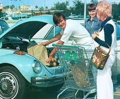 Remember when clerks actually carried your groceries and loaded them into your car for you?!  I do...