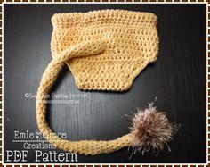 Lion diaper cover crochet pattern